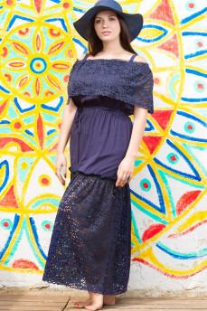 Шикарное синее пляжное платье в пол  3196 от Nautic