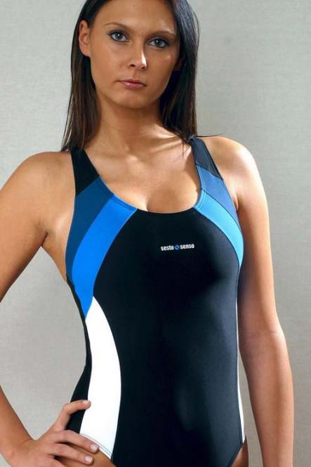 Спортивный цельный купальник без кости от Sesto Sento
