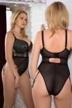 Сексуальное черное блистающее боди на пышную грудь Sparks Fly CK013704 от Curvy Kate