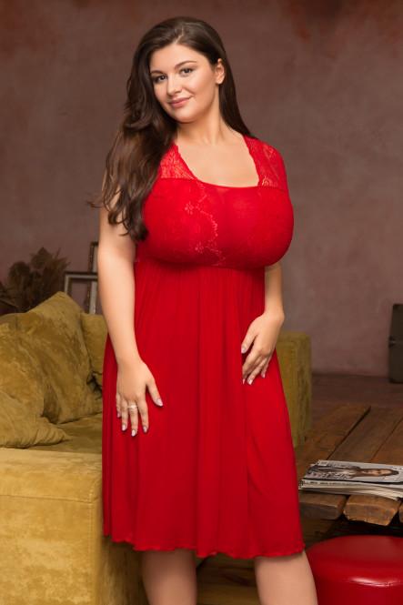 Великолепная сорочка большого размера 504 на пышную грудь от Akcent