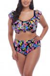 Комфортные пляжные плавки-брифы с цветочным принтом Electroflower от Elomi