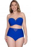 Купить купальный топ-бандо ярко-синего цвета CS001307 Sheer Class от Curvy Kate