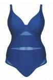 Цельный ярко-синий купальник CS001605 Sheer Class от Curvy Kate