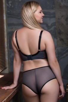 Трусики шортики Curvy Kate Victory Pin-UP 020201 Black/Slate