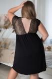 Сорочка из вискозы с поддержкой груди Shato 1639 Black