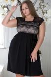 Двухцветная сорочка с поддержкой большой груди Shato 1540 Black