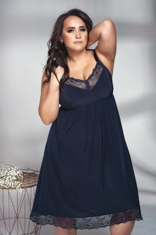 Сорочка для дома и сна на большую грудь Shato 1341 Navy-blue