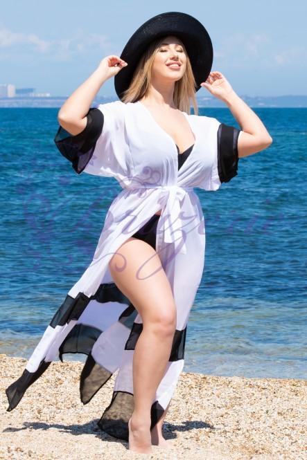 Пляжная туника Shato ST 245 White-black