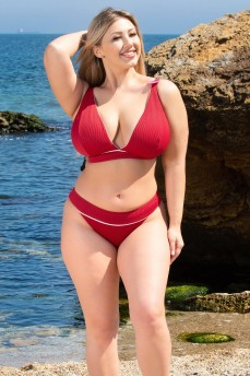 Купальный топ Poolside by Curvy Kate Pink Red