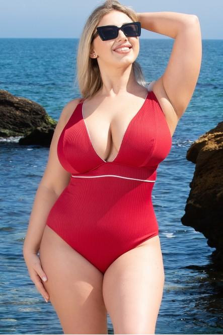 Цельный купальник Pool Side by Curvy Kate Pink Red