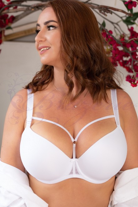 Бюстгальтер со стрепами Freya AA5330 Awakening Moulded Plunge T-Shirt  White