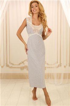 Домашнее платье в цвете серый меланж Violet Delux