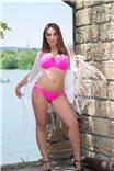Ярко-розовый купальный топ Sundance Swim от Freya
