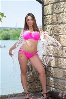 Ярко-розовые купальные брифы Rio от Freya