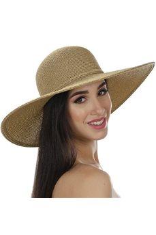 Шикарная золотистая пляжная шляпа от Delmare