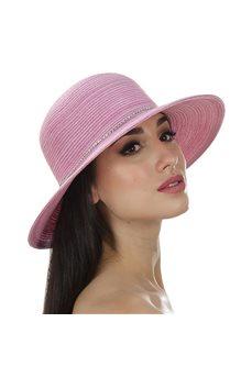 Пляжная шляпа с лентой из страз от Delmare