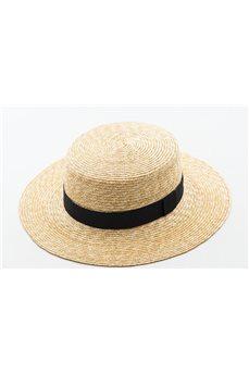 Шляпа канотье соломенная с широкими полями