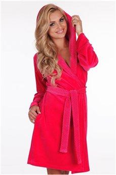 Велюровый  тёплый халат 965 от De Lafense