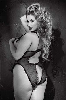 Эротическое боди с открытой грудью и попой 2154 B от Shirley of Hollywood