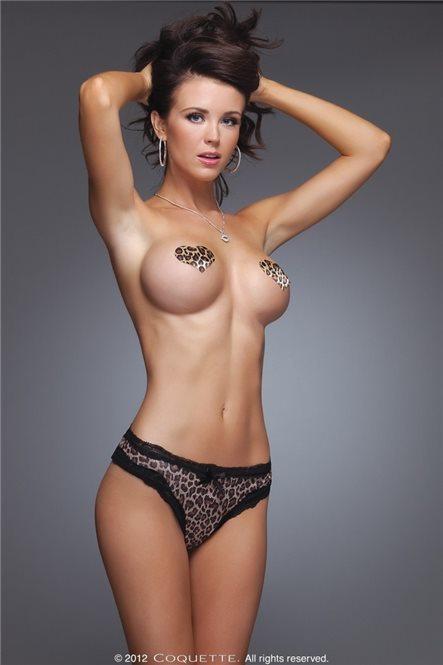 Леопардовые трусики из лайкры