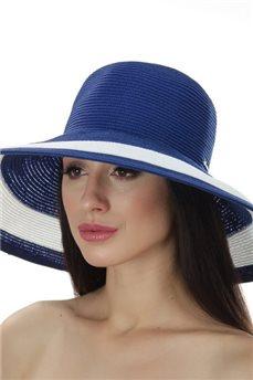 Классическая летняя шляпа двухцветная  от Delmare