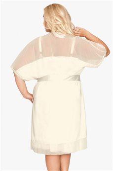Халатик для шикарных женщин в цвете слоновой кости 502 от Akcent
