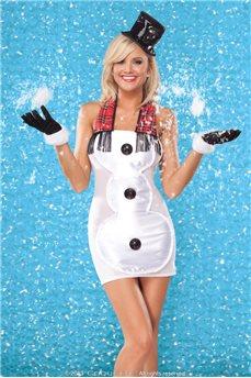 Женское праздничное платье Снеговика