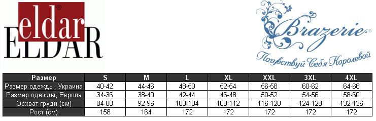 Eldar таблица размеров